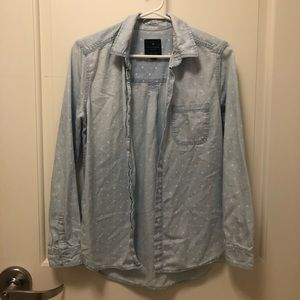 american eagle • boyfriend shirt